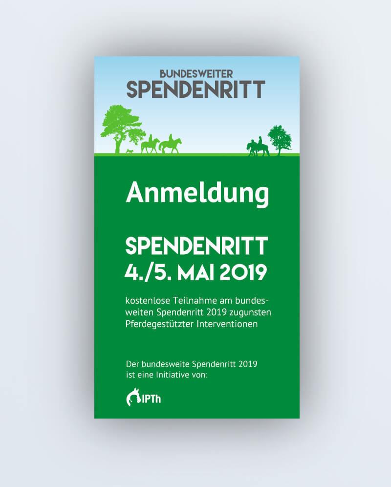 Anmeldung Spendenritt 2019