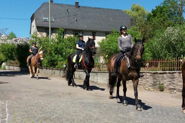 Alftal-Reiter für Leben Erleben durch die Stadt
